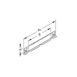 RAW 60.100 E3, Reduzier-/Abschluss-/Winkelstück für KR, 60x100 mm, Edelstahl, Werkstoff-Nr.: 1.4301, 1.4303, inkl. Zubehör