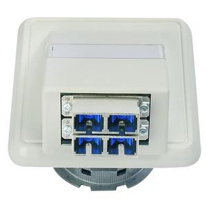 LWL-Anschlussdose OAD/S mit 2xSC Duplex, montiert alpinweiß