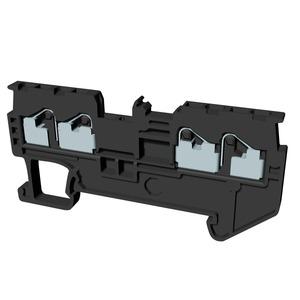 XW5T-P1.5-2.2-1, Reihenklemme, Vierfach-Anschluss, DIN-Hutschiene, TS 35, 1mm², Push-In Plus, dunkelgrau