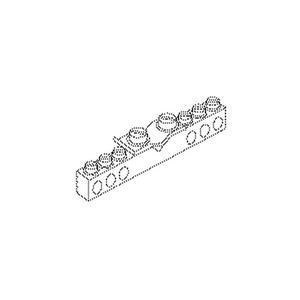 307, Potentialausgleichsschiene, 9x9x63 mm, Messing, vernickelt