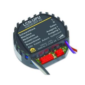 LCN - UPU, Unterputz-Modul 230V, 2 Ausg. Phasen AB- und AN-schnitt