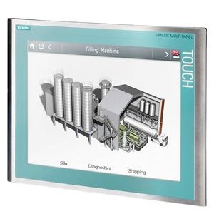 6AV6643-0ED01-2AX0, SIMATIC MP 277 10 Touch Edelstahlfront, durchgezogene Dekorfolie, Remanenzspeicher Schutzart Front IP66K, EX 2/22 10,4 TFT-Display, projektierbar mi