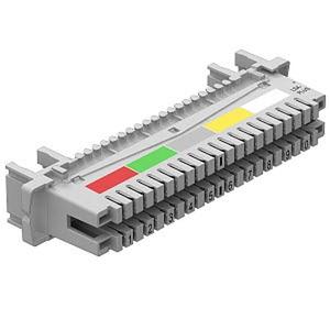 LSA-A-LEI, Anschlussleiste 10 Doppeladern für LSA Plus 40-polig, grau