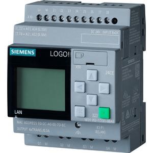 6ED1052-1CC08-0BA0, LOGO! 24CE, Logikmodul, Display SV/E/A: 24V/24V/24V trans., 8DE (4AE)/4DA, SP. 400 Blöcke, modular erweiterbar, Ethernet integr. Web-Server, Datalog,