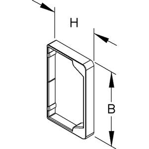 LER 100.100, Endschutzring, 100x100 mm, Kunststoff, Polypropylen, RAL 7021, schwarzgrau