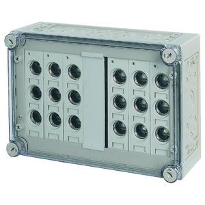 RS27/I43E, Sicherungskasten, 6x3xE27, HxBxT=250x375x150mm