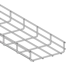 Gitterkanal U-Form GKX 60x 60 S, Länge=505mm, nach Zeichnung T11021779, Version 1, Material St-verzinkt