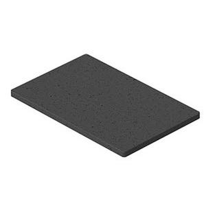 ISSGU70110, Gummiunterlage 70x110x4mm, GUM, schwarz