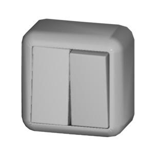 Serienschalter 10A CONTURA Schraubklemme perlweiß