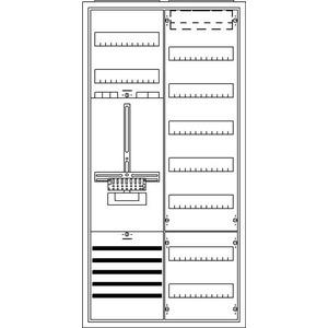 KS256, Komplettschrank, Aufputz mit Zählerkreuz, 2/3A 1Z1V7