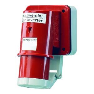 Phasenw. Aufbaustecker 32A4p6h400V IP44