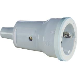 HPSKKLEIN, PVC SCHUKO-Kupplung grau 3 x 1,5mm²