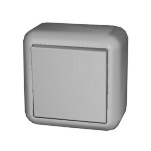 Universal-Schalter 10A CONTURA Schraubklemme perlweiß