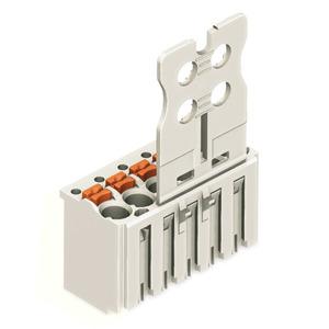 2091-1106, 1-Leiter-Federleiste Griffplatte 1,5 mm² Rastermaß 3,5 mm 6-polig lichtgrau