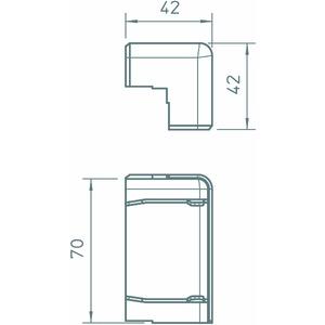 SKL-A70DBU, Außeneck 70mm, PVC, buche
