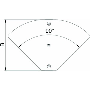 DFBMV 500 A2, Deckel variabler Bogen Magic 0 bis 90°, für RBMV 504x767, V2A, A2