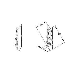 BSVW80.6, Stoßstellenabdeckung, Deckelöffnung 80 mm, für Flachwinkel, Kunststoff ASA, RAL 9001, cremeweiß