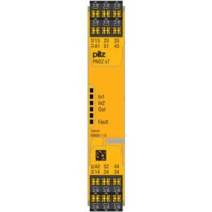 750107, PNOZ s7 24VDC 4 n/o 1 n/c