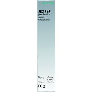 Netzteil für Kopfstellenkassetten, max. 2 Kassetten, 16 V, 4,5 A