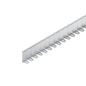 RTSQF 100-1.5/1000 S, Trennsteg, flexibel, 98x1000 mm, t=1,5 mm, Stahl, bandverzinkt DIN EN 10346, inkl. Zubehör
