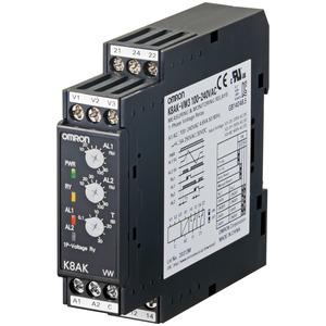 K8AK-VW2 24VAC/DC, 1-Ph.-Spannungsbereichüberwachung: H-L / L-L / H-H bis 150 VAC/DC