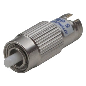 AOD 5, Optisches Dämpfungsglied 5 dB, zur Abdämpfung von Überpegeln in optischen SAT-ZF Verteilsystemen, FC/PC Buchse und Stecker