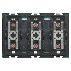Tastsensor 3-fach, zur Ansteuerung von drei Aktoren für Einzel- oder unabhängige Doppellasten, 3-modulig