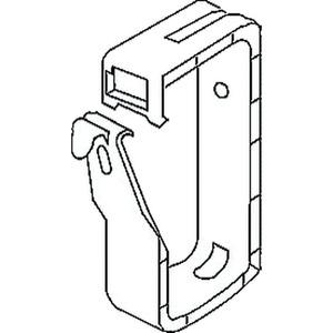 712/2, Sammelhalterung, Höhe 105 mm, Breite 45 mm, Kunststoff PP, RAL 7035, lichtgrau