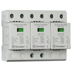 7P.03.8.260.1025, Überspannungsableiter Typ 1 + 2, Varistor und Funkenstrecke, für dreiphasige TN-C-Netze