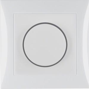 Drehdimmer m Adp u Regknf S.1 pw glänz