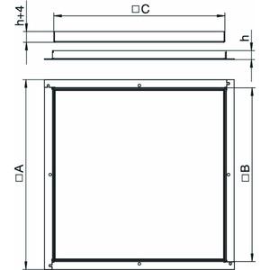 RK M3 10, Rahmenkassette blind 383x383x10, CuZn