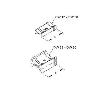 DW 30, Doppelwanne für alle Bügelschellen, für Kabel-Ø 26-30 mm, Kunststoff, Polystyrol