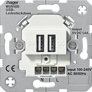 USB-Ladesteckdose 2-fach, weiß