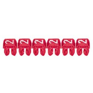 CAB 3 Kabelkennzeichnungssystem Ziffer 1 , Farbe braun Leiterquerschnitt 0,5 - 1,5 mm² Gemäß EN 60 062