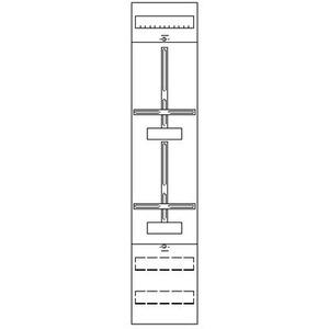 1ZF41, Zählerfeld BH4 1-Feld nicht verdrahtet mit Zählerkreuz