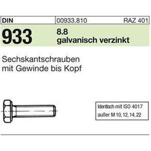 D933/SKS/8.8 M 6 x 30 gal Zn