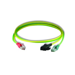 Y-Patchkabel6 ISDN/TAE gn/ge 0,5m