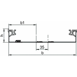 AIKU 25070, Kanalunterteil 2400x250x70, St, FS, Preis per Stück, L=2,4m