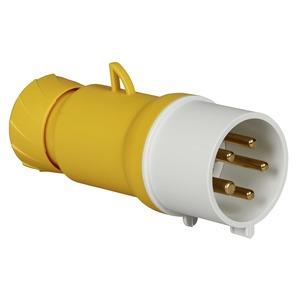 CEE Stecker, Schraubklemmen, 32A, 3p+N+E, 100-130 V AC, IP44