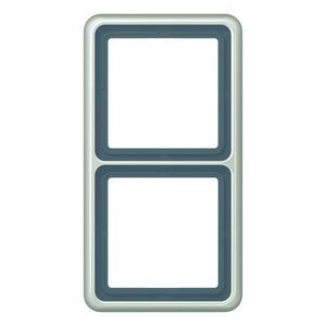 CD 582 PT, Rahmen, 2fach, für waagerechte und senkrechte Kombination