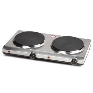 Kochplatte doppel Edelstahl