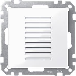 Raumtemperaturregler für den Objektbereich, aktivweiß glänzend, System M