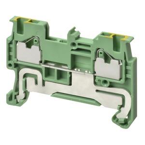 XW5G-P1.5-1.1-1, Erdungsklemme, DIN-Hutschiene, Push-In Plus, TS 35, 1 mm², grün-gelb