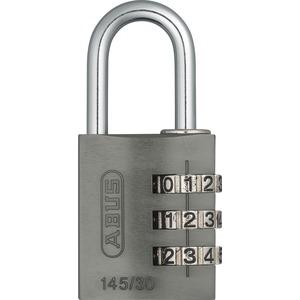 145/30 titanium mit EAN Alu.Zahlen-Kombinationsschloss