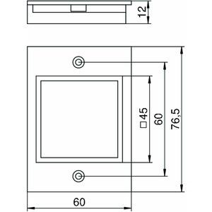T4B P6 9011, Abdeckplatte 1f Modul 45 für T4B 55x77mm, PA, graphitschwarz, RAL 9011
