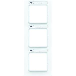 AC 583 BFNA WW, Rahmen, 3fach, Schriftfelder 9 x 55 mm, bruchsicher, für senkrechte Kombination