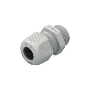 1234VM1602, IPON-Kabelverschraubung, vollmetrisch, M16, Kabel-Ø 4-10 mm, Kunststoff PA, RAL 7001, silbergrau
