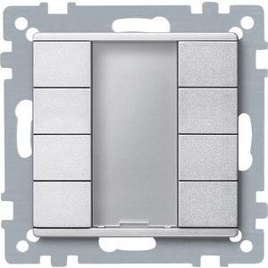 Taster 4fach plus, aluminium, System M