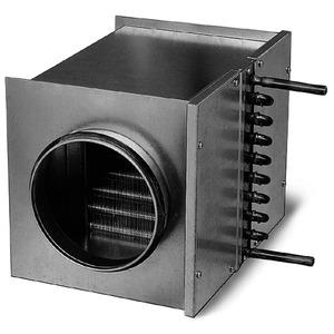 WHR 125, WHR 125, Warmwasser-Heizregister für Rohrdurchmesser 125 mm
