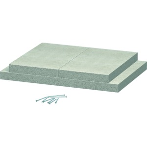 BSK-K0506, Wandanschlusskragen für BSK I90 50x60, grau